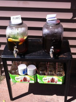 Drinks station - Pimms and iced tea